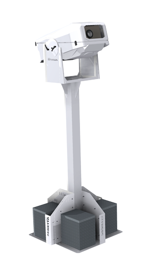 self-supporting pole for projector housing