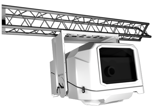 Outdoor projector for videomapping